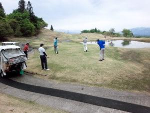 社内ゴルフコンペ写真